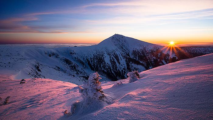 Sněžka poránu, Krkonoše
